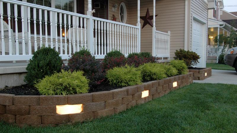 Garden Wall Lights & Before/After Photos | SEK SUREBOND | Hardscape Installation ... azcodes.com