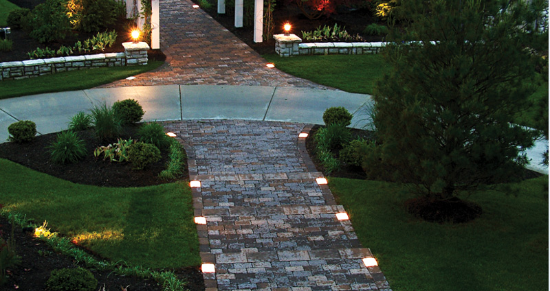 cobble lighting sek surebond hardscape installation. Black Bedroom Furniture Sets. Home Design Ideas