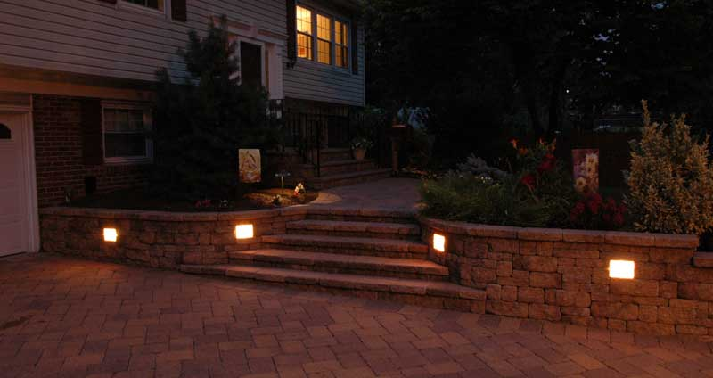 Wall lighting sek surebond hardscape installation protection wall lights mozeypictures Images