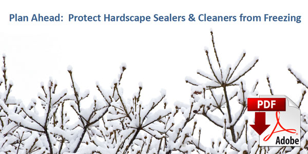 Protect Sealers and Cleaners from Freezing