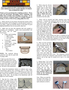 Kerr Lighting Sek Surebond Hardscape Installation