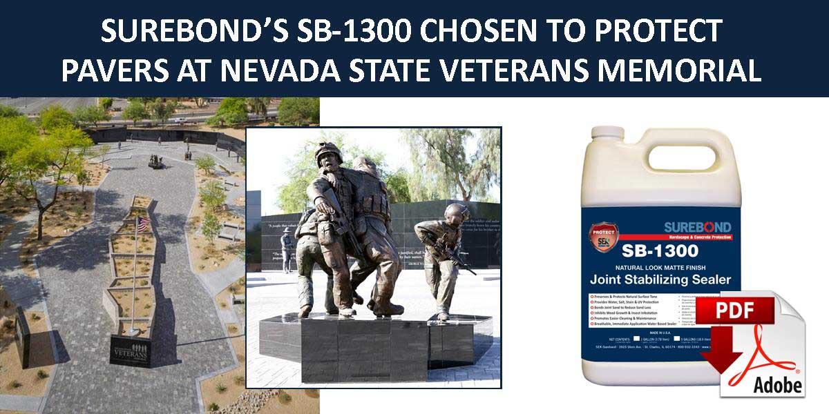 SB-1300 Joint Stabilizing Sealer was chosen